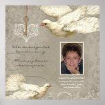 Key to my Heart Dove Bereavement Memorial Poster