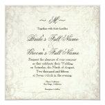 "Key to my Heart, Doves Swirl Weddings Invite 5.25"" Square Invitation Card"
