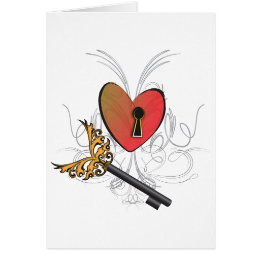 Key to my Heart Greeting Cards