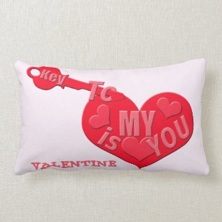 Key To My Heart Is You Valentine Lumbar Pillow