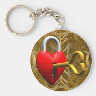 Key To My Heart Basic Round Button Keychain