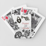 Key To My Heart Marriage Engagement Wedding Art Bicycle Playing Cards
