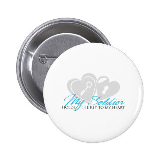 Key to my heart pinback button