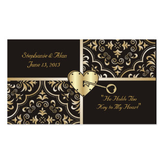 Key to my Heart Place Cards Business Card