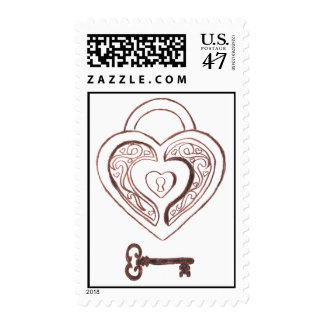 Key to My Heart Postage