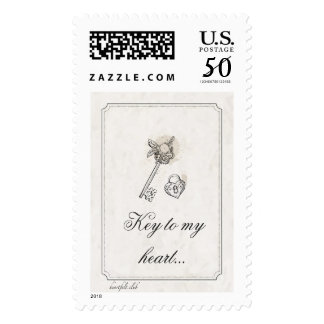 Key To My Heart Postage Stamp