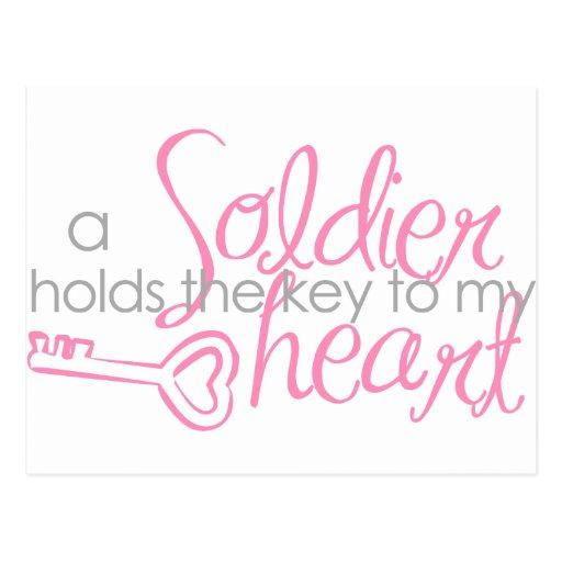 Key to my heart postcard
