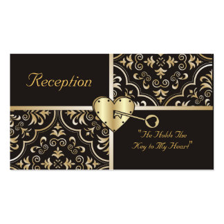 Key to my Heart Reception Cards Business Card