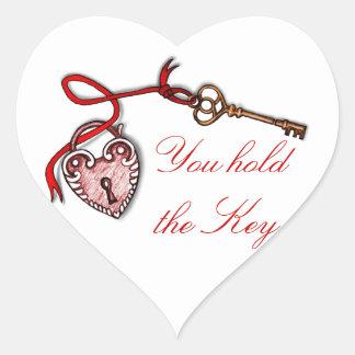 Key to my heart ~ Red Heart Sticker