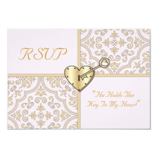 Key To My Heart RSVP Card