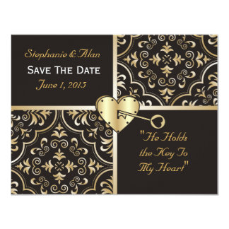Key to My Heart Save The Date Card Custom Invites