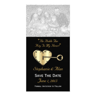 Key To My Heart Save The Date PhotoCards Card