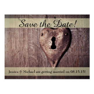 Key to My Heart Save the Date Postcard