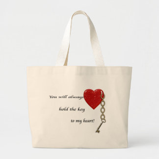 key to my heart tote bags