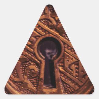 Key to my Heart Triangle Sticker