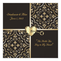 Key to my Heart Wedding Invitation