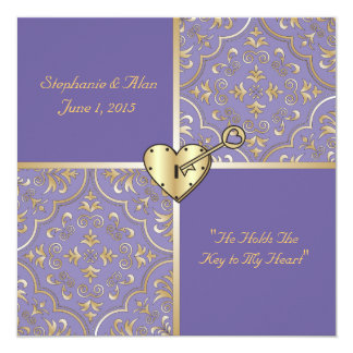 Key to my Heart Wedding Invitation