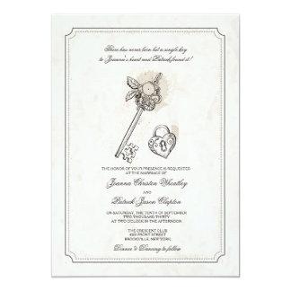 Key To My Heart Wedding Invitations