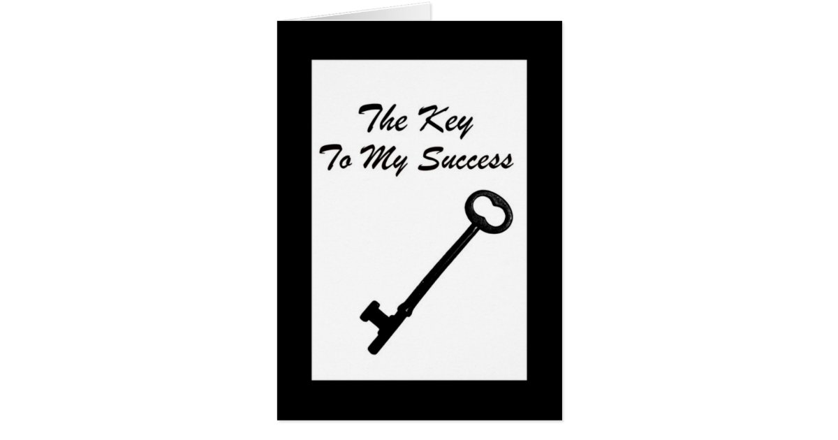 Key To My Success Business Referral Thank You Card | Zazzle.com