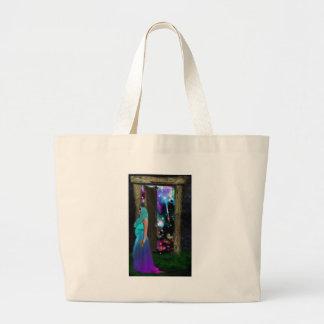Key to Otherworlds,Fantasy, Goddess, Magic, Pagan Large Tote Bag