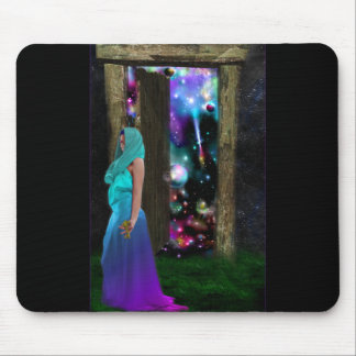Key to Otherworlds,Fantasy, Goddess, Magic, Pagan Mouse Pad