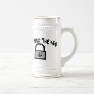 Key To Peace Beer Stein
