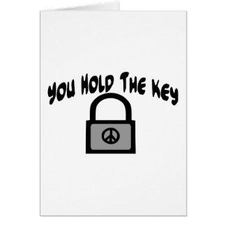 Key To Peace Card