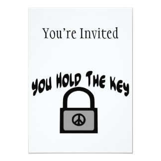 Key To Peace 5x7 Paper Invitation Card