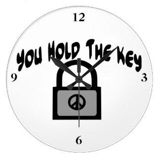 Key To Peace Large Clock