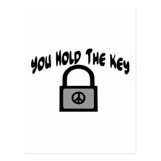 Key To Peace Postcard