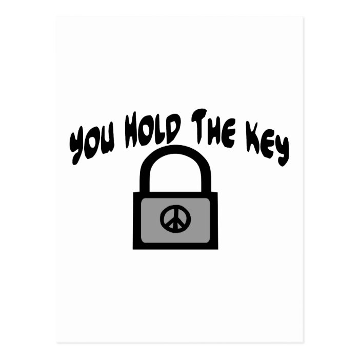 Key To Peace Postcard