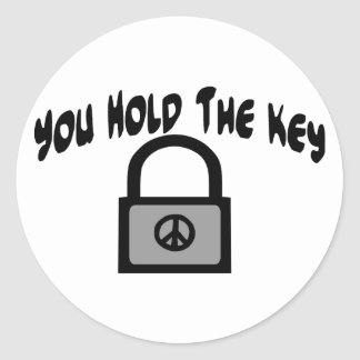 Key To Peace Classic Round Sticker