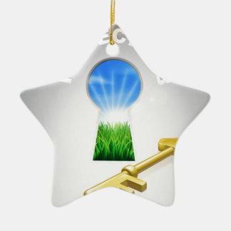 Key to perfect job ceramic ornament