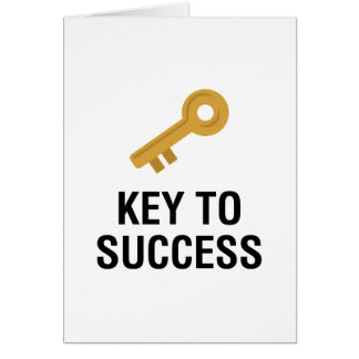 Key to Success Card