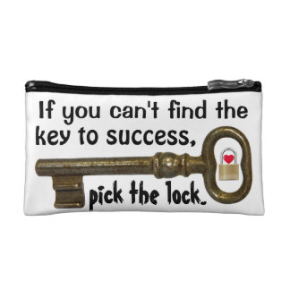 Key to Success Cosmetic Bag