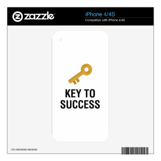 Key to Success Decals For iPhone 4