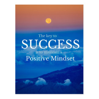 Key to Success Inspirational Quote Postcard