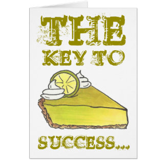 Key to Success Lime Pie Slice Congratulations Card