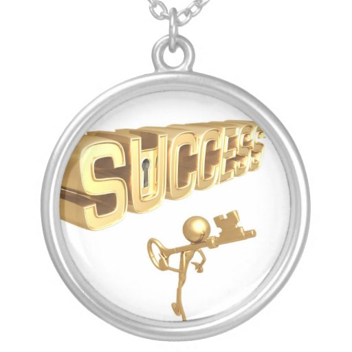key to success necklace and pendant zazzle