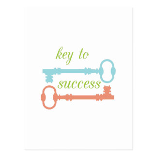 Key To Success Post Card