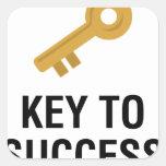 Key to Success Square Sticker