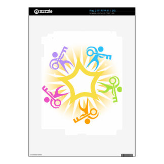 Key to Success Teamwork Starburst Icon Decal For The iPad 2
