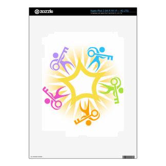 Key to Success Teamwork Starburst Icon Decals For iPad 3