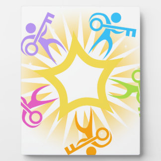 Key to Success Teamwork Starburst Icon Plaque
