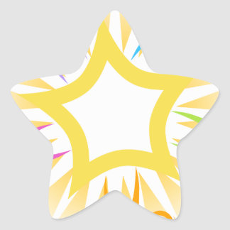 Key to Success Teamwork Starburst Icon Star Sticker