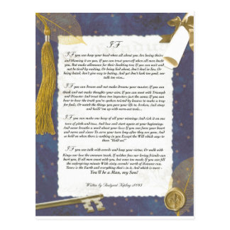 Key To The Future IF by Rudyard Kipling Postcard