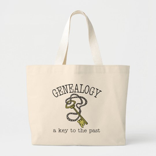 Key To The Past Large Tote Bag