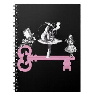 Key to Wonderland Spiral Notebook