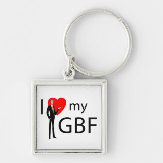 Key to Your Heart Silver-Colored Square Keychain