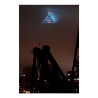 Key Tower in the Fog Poster